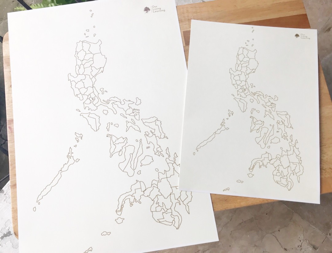Image of: Philippine Blank Map Medium Our Living Learning